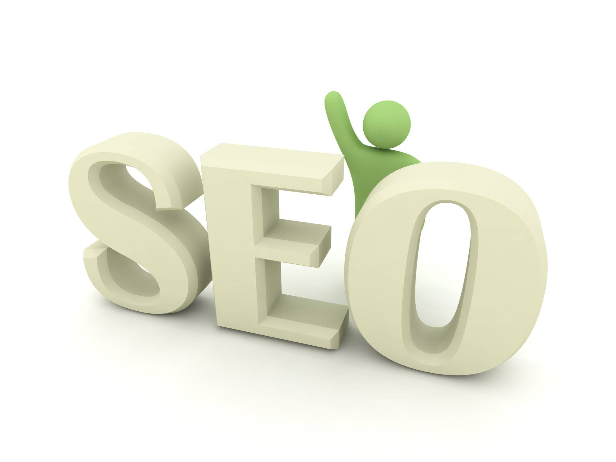 stock photo seo little green man